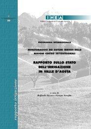 Rapporto sullo stato dell'irrigazione in Valle D'Aosta - Inea