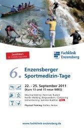 Enzensberger Sportmedizin-Tage 6. - Fachklinik Enzensberg