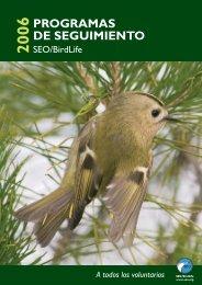 PROGRAMAS DE SEGUIMIENTO - SEO/BirdLife