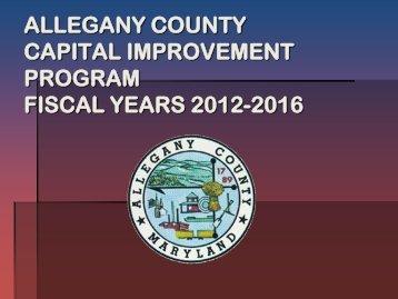 ALLEGANY COUNTY CAPITAL IMPROVEMENT PROGRAM ...