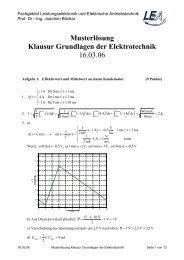 Musterlösung zur Klausur GET B WS 05/06 - Fachgebiet ...