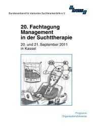 20. Fachtagung Management in der Suchttherapie - Bundesverband ...