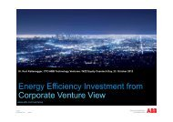 Energy Efficiency Investment from Corporate Venture View