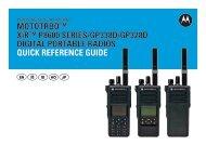 MOTOTRBO XiR P8600 SERIES/GP338D/GP328D DIGITAL ...