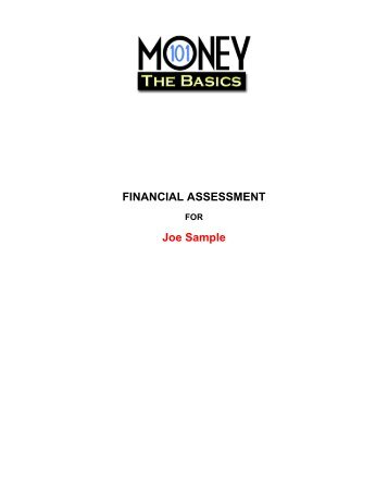 FINANCIAL ASSESSMENT Joe Sample