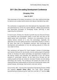 2011 Zinc Die-casting Development Conference - International Zinc ...