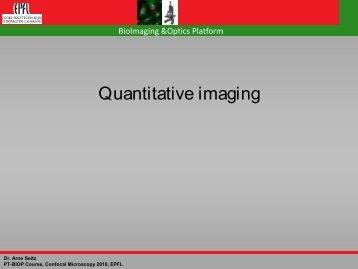 Quantitative imaging - EPFL