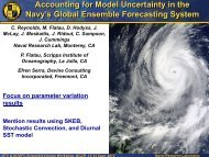 Accounting for Model Uncertainty in the Navy's Global Ensemble ...