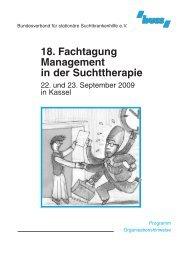 18. Fachtagung Management in der Suchttherapie - Bundesverband ...