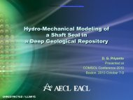Hydro-Mechanical Modeling of a Shaft Seal in a ... - COMSOL.com