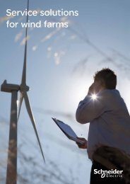 Service solutions for wind farms - Schneider Electric