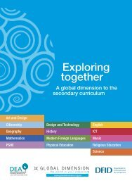 Exploring together: A global dimension to the secondary ... - Support