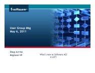 Jurrius_user group meeting 3-22-2011 - Software AG