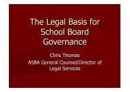 The Legal Basis for School Board Governance - Arizona School ...