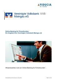 Online-Banking für Firmenkunden