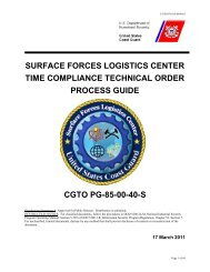 surface forces logistics center time compliance ... - U.S. Coast Guard
