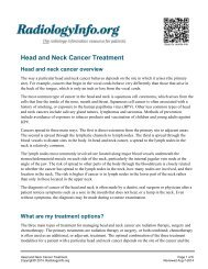Head and Neck Cancer Treatment - RadiologyInfo