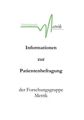 Angebotsskizze Patientenbefragung - unsere Leistungen im ...