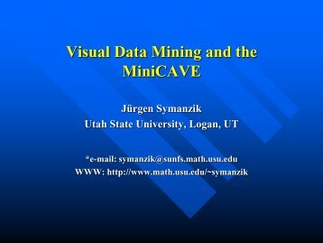 Visual Data Mining and the MiniCAVE