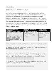 PRACOVNÍ LIST Hodnocení krajiny – Příklad výuky v terénu Cílem ...