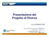 Presentazione proget.. - Aodv231.it