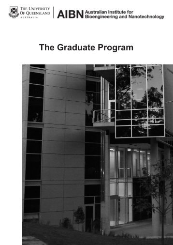 The Graduate Program - AIBN - University of Queensland