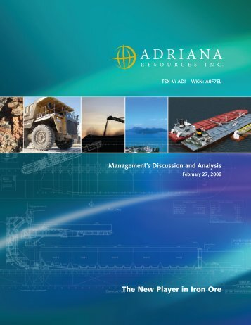 The New Player in Iron Ore - Adriana Resources Inc.