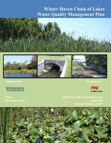Winter Haven Chain of Lakes Water Quality Management Plan (Part ...