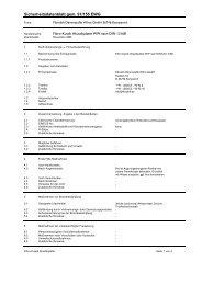 Sicherheitsdatenblatt gem. 91/155 EWG - Moland