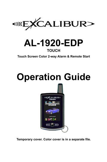 AL-1920-EDP Operation Guide - car alarm