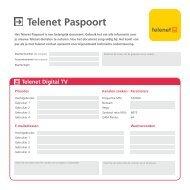 Telenet Paspoort - Klantenservice