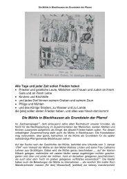 Die Bleckhausener Mühle als Grundlage der Pfarrei - Trier