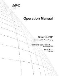 Smart-UPS UPS Operation Manual - APC Media