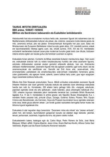 Taurus dosiera - Museo de Bellas Artes de Bilbao