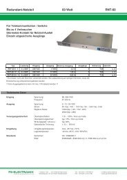 Redundant-Netzteil 60 Watt RNT-60 - FG-Elektronik GmbH