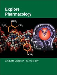 Explore Pharmacology - University of Utah College of Pharmacy