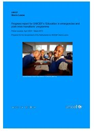 Sierra-Leone Progress Report 2009 - Back on Track