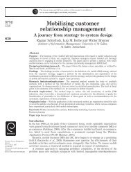 Mobilizing customer relationship management