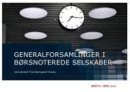 generalforsamlinger i børsnoterede selskaber - Bech-Bruun