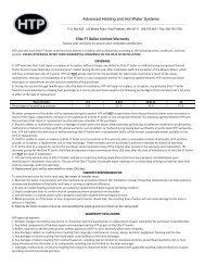 Warranty - Heat Transfer Products, Inc