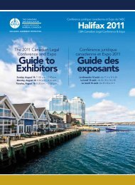 Guide to Exhibitors Guide des exposants - Creativity in the legal ...
