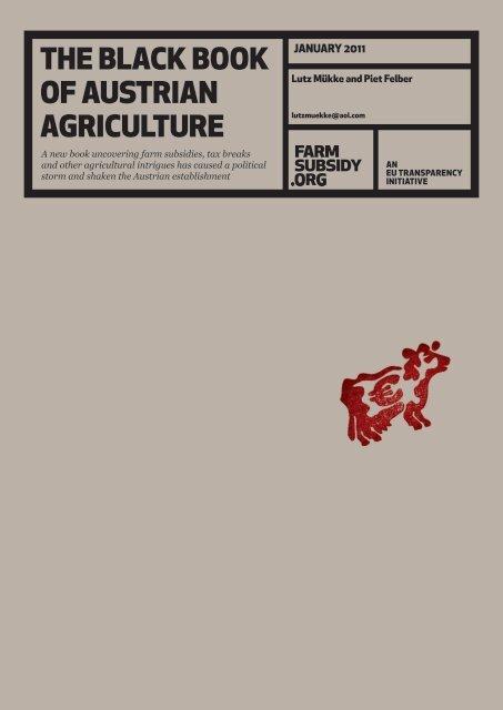 THE BLACK BOOK OF AUSTRIAN AGRICULTURE - atlatszo.hu