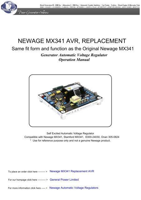 newage mx341 avr, replacement soonwell com  isolation transformer wiring diagram onan avr #15
