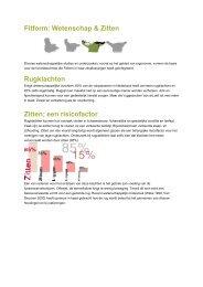 Fitform: Wetenschap & Zitten Rugklachten Zitten; een risicofactor