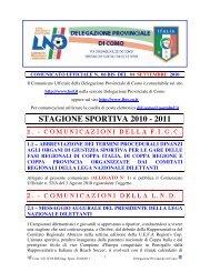 COMUNICATO n.06 BIS del 04/09/2010 - FIGC