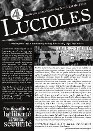Lucioles est un bulletin qui paraît tous les - Non Fides