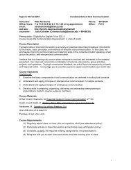 Speech 10-Fall 2010 Fundamentals of Oral ... - De Anza College