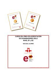 Para más información pulse aquí - Instituto Cervantes de Tánger