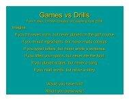 Games vs Drills