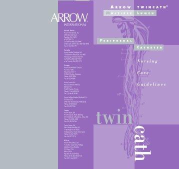 TwinCath Gdline 8/03 - PDFtmpl - Arrow International, Inc.